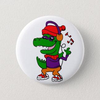 Pin's Musique et danse de écoute de dinosaure