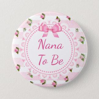 Pin's Nana à être roses de rose de bouton de baby shower