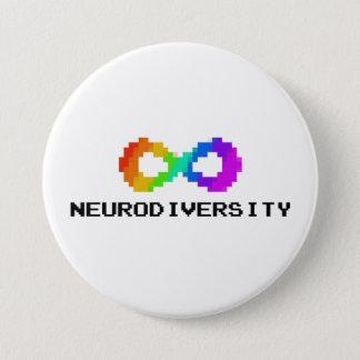 Pin's Neurodiversity à 8 bits avec le texte