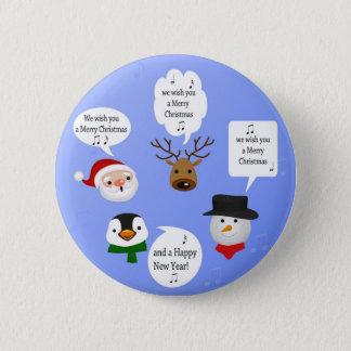 Pin's Noël mignon et drôle - bouton