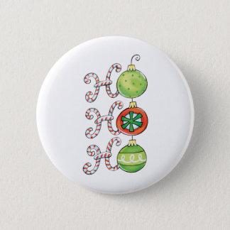 Pin's Noël mignon Ho Ho Ho, ornements de sucres de canne