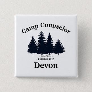Pin's Nom de conseiller de nom de camp de pins de