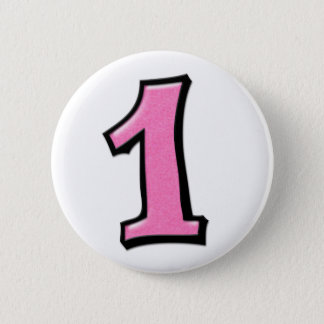 Pin's Nombres idiots 1 bouton rose