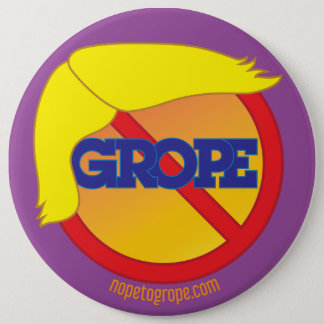 Pin's NOPE POUR CHERCHER le Pin rond de menace orange