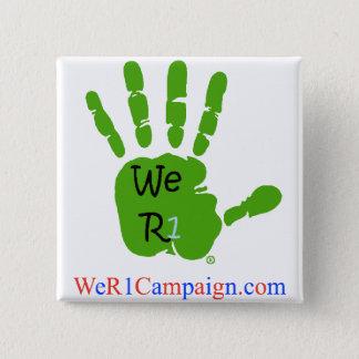 Pin's Nous bouton vert de la main R1