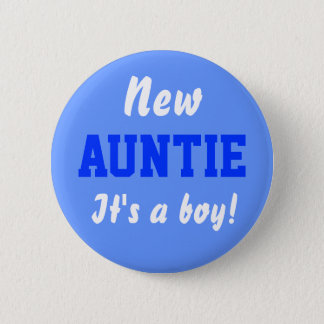 Pin's Nouveau bouton de bébé de garçon de tante