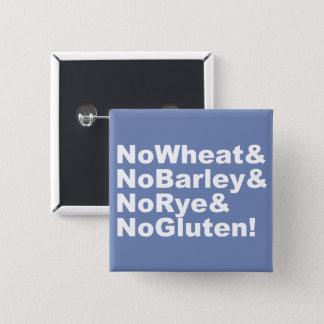 Pin's NoWheat&NoBarley&NoRye&NoGluten ! (blanc)