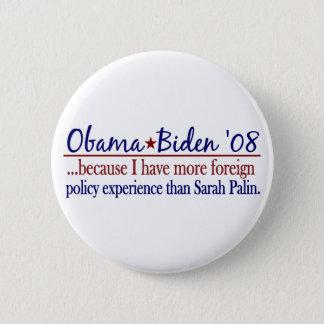 Pin's Obama Biden (politique extérieure Anti-Palin)