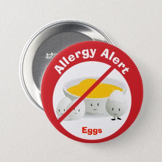 Pin's Oeufs vigilants du bouton   d'allergie