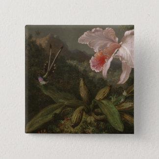 Pin's Orchidées et colibris de jungle