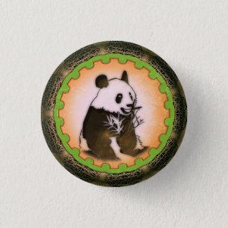 Pin's Panda heureux se reposant dans l'orange