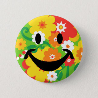 Pin's Papier peint drôle et smiley de flower power