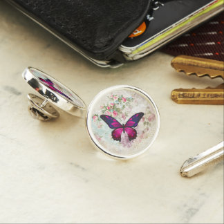 Pin's Papillon rose et roses vintages minables