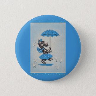 Pin's Parapluie de transport de dame de chien de Scottie