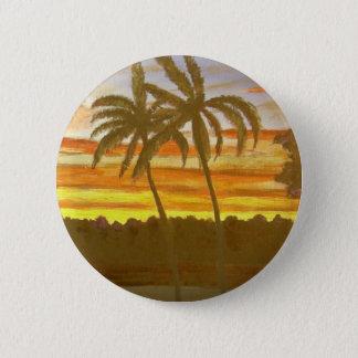 Pin's Paumes de coucher du soleil