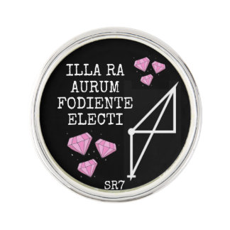 Pin's Pin de revers du RA AURUM FODIENTE ELECTI d'ILLIA