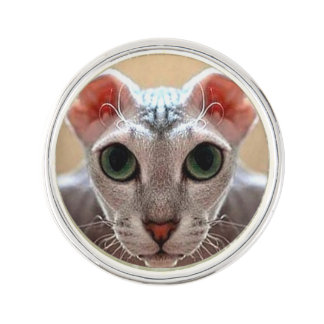 Pin's Pin de visage de chat de Levkoy d'Ukrainien