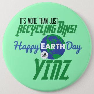 Pin's Pin méga de bouton de Yinz de jour de la terre