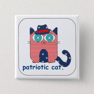 Pin's Pin patriotique de bouton de chat