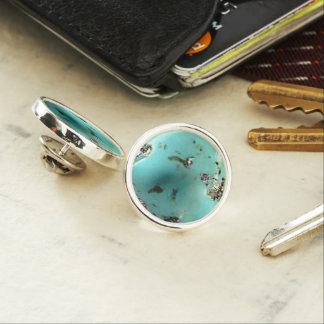 Pin's Pin rond de revers d'image de pierre gemme de