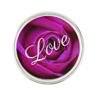 Pin's Pin rose de revers d'amour