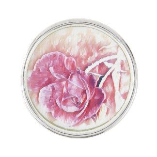 Pin's Pin rose de revers d'art