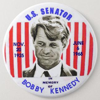 Pin's Pinback de mémorial de Bobby Kennedy