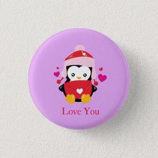 Pin's Pingouin mignon de bande dessinée de Valentine