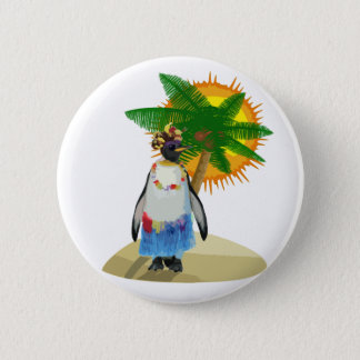 Pin's Pingouin tropical
