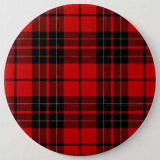 Pin's Plaid noir rouge de tartan de clan de Brodie