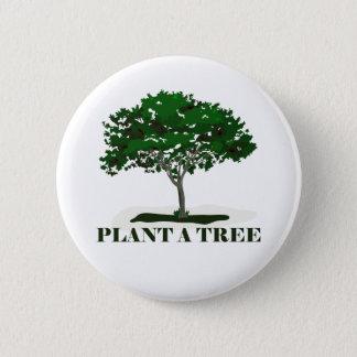 Pin's Plantez un bouton arrière de Pin d'arbre