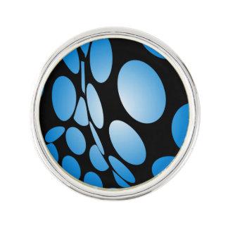 Pin's Points bleus déformés sur le noir