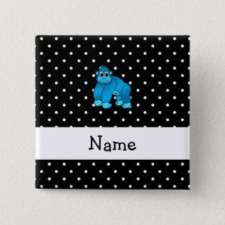 Pin's Points bleus nommés personnalisés de noir de