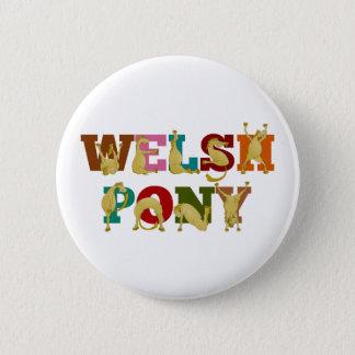 Pin's Poney de gallois avec le texte coloré