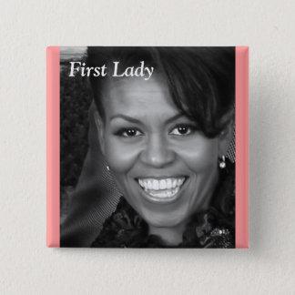 Pin's première borne de dame de Michelle obama