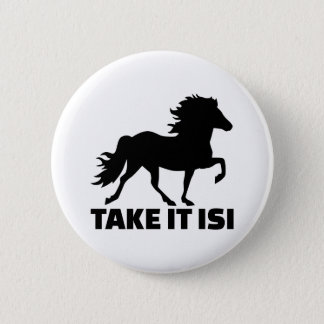 Pin's Prenez-lui le cheval d'Isi Islande