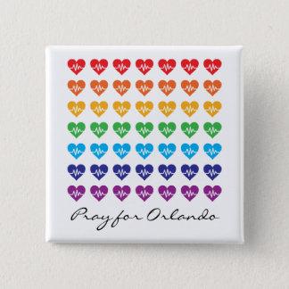 Pin's Priez pour Orlando un coeur d'arc-en-ciel