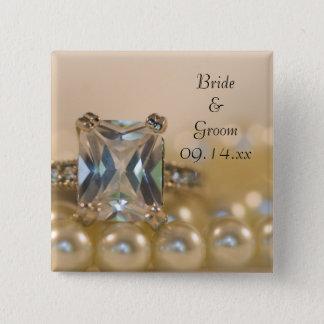Pin's Princesse bague à diamant et épouser blanc de