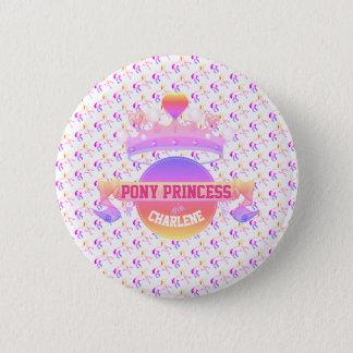 Pin's Princesse rose et pourpre de poney