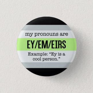 Pin's Pronoms d'Ey/Em - drapeau d'Agender