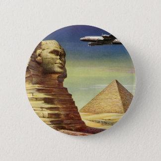 Pin's Pyramides vintages Egypte Gizeh de désert d'avion