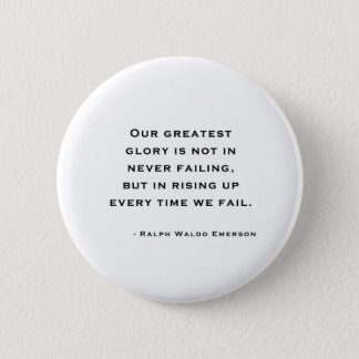 Pin's Ralph Waldo Emerson - citation de motivation