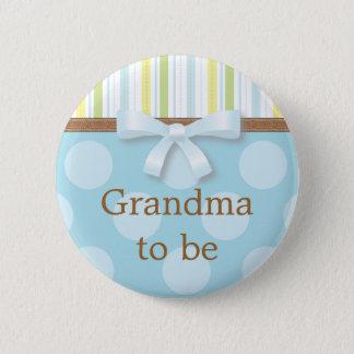 "Pin's Rayures bleues de point de polka - ""grand-maman à"