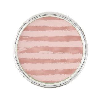 Pin's Rayures peintes à la main métalliques d'or rose