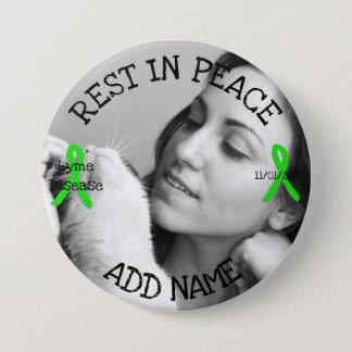 Pin's Repos dans le bouton personnalisé de la maladie de