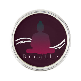 "Pin's ""Respirez"" beau Bouddha"