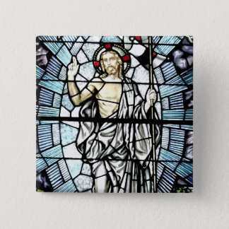 Pin's Résurrection de fenêtre en verre teinté de Jésus
