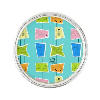 Pin's Rétro Pin atomique de revers de kitsch