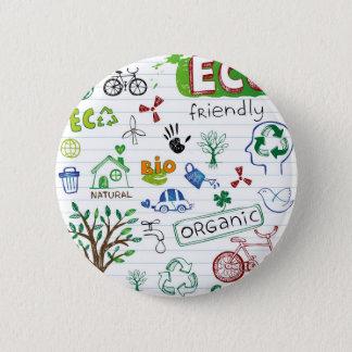 Pin's Réutilisez Eco amical