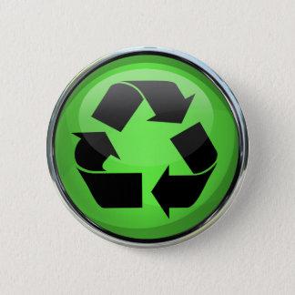 Pin's Réutilisez le logo en verre et chrome